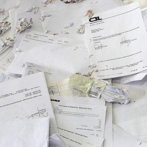 Descarte de documentos empresariais