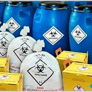 Tratamento de resíduo químico